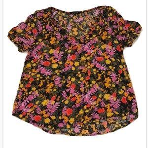Ella Moss Floral Top - M